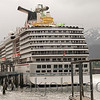 Cruise ship in Juneau harbor.