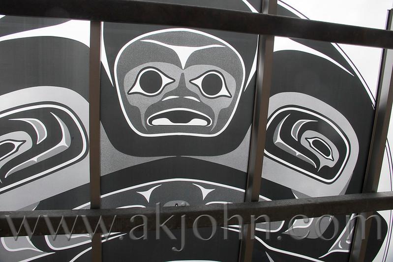 Board walk art work in Juneau.