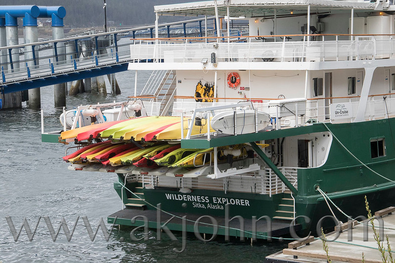 Touring boats in Juneau