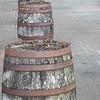 Barrels near board walk