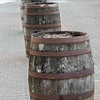 Barrels near board walk