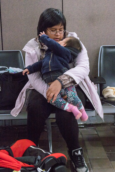 Dorothy and Talia at the airport.