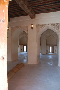 Interior of the castle mosque.