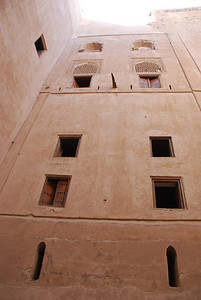 Looking up from the interior courtyard at Jabrin.