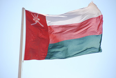 Omani flag at Jabrin castle.