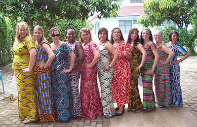 health women show off their native dress