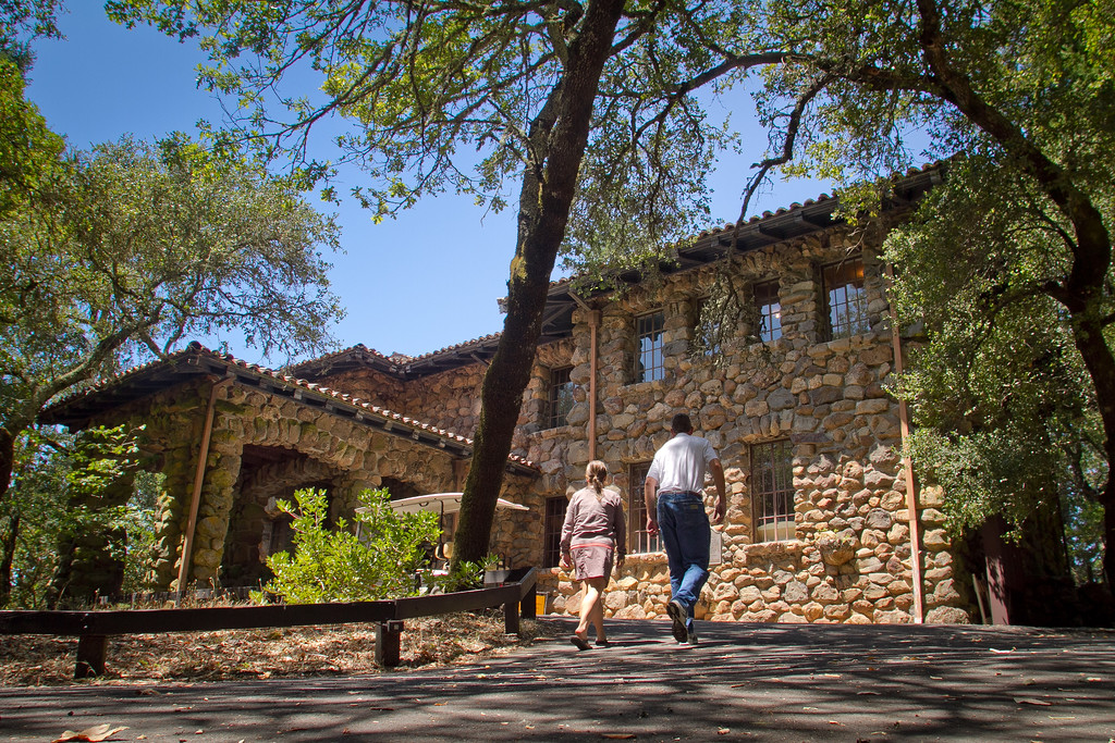 A couple walk up to the House of Happy Walls Museum at Jack London State Park in Glen Ellen, Calif., on Friday, July 13th, 2012.