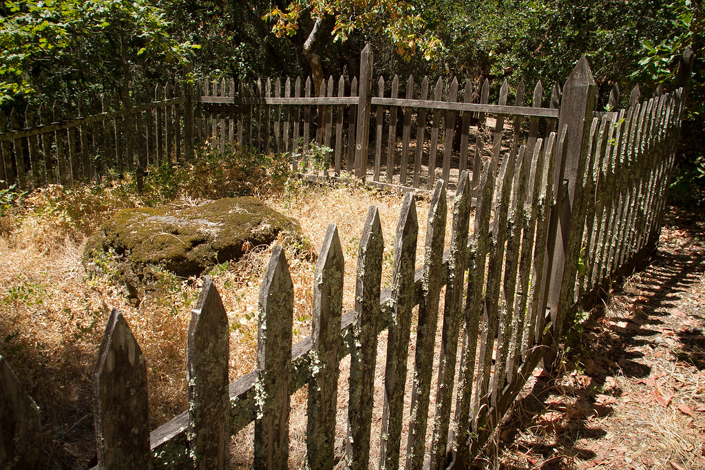 Jack London's gravesite at Jack London State Park in Glen Ellen, Calif., is seen on Friday, July 13th, 2012.