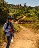 Jacki Hiking to the Lighthouse