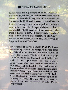 Intriguing info about the original settler, one Mr. Jacks, whose dealings were apparetly sometimes as shady as this park is today.