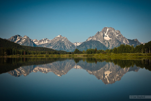 Oxbow bend, late morning in Grand Teton National Park