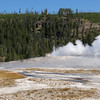Old Faithful Geyser, at the end of an eruption