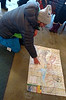 "Road Scholar trip to Jackson Hole, Wyoming.  21-26 Jan 2018.  ""Sam"" outlines our route of travel for the day."