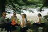 Picnic down by the Snake river: Jackie, Frank, Jamie, Cary, and Nina. Beautiful days!