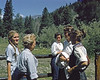 Cary Ogle, Jackie Hiller, a Michigan guest, Nina and Cathy. Jackie not only ran the ranch, but skiied and hunted in season. A woman for all seasons.