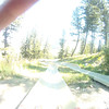 Another, faster ride down the Alpine Slide at the Snow King Resort in Jackson Hole, WY. Shot with head mounted GoPro