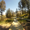 Alpine Slide at the Snow King Resort in Jackson Hole, WY. Shot with head mounted GoPro