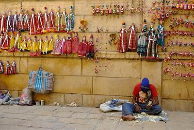 Puppet maker in Jaisalmer, Rajasthan.
