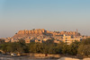 Jaisalmer Fort, Rajasthan, India as seen from the Jaisalmer train station.