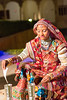 Portrait of a Rajasthani Folk dancer, Jaisalmer, Rajasthan, India.