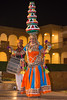 Rajasthani Folk dancers and musicians, Jaisalmer, Rajasthan, India. Women place series of pots on the head and dance to rhythmic folk-music.