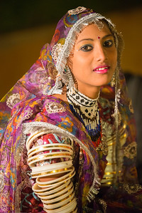 Rajasthani Folk dancer portrait, Jaisalmer, Rajasthan, India.