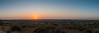 Panoramic view at the sunset viewing point at the Sam Dunes, Jaisalmer, Rajasthan, India.