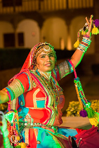 Portrait of Rajasthani Folk dancer, Jaisalmer, Rajasthan, India.