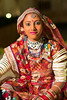 Portrait of a Rajasthani Folk dancer, Jaisalmer, Rajasthan, India.