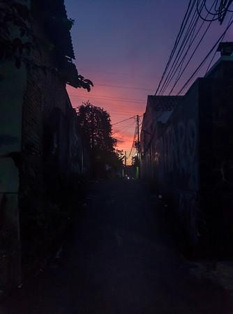 Dark Alley Towards the Sunrise