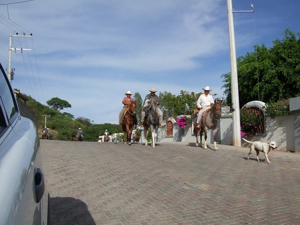 It isn't every day one has cowboys riding through their neighborhood