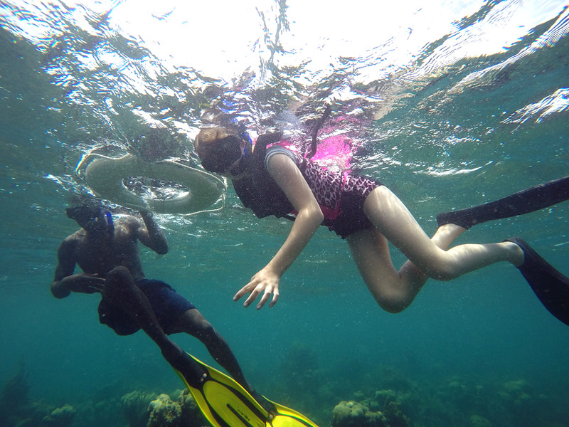 Lauren, with our snorkel guide, Orain