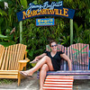 Emily glad to be at Margaritaville.