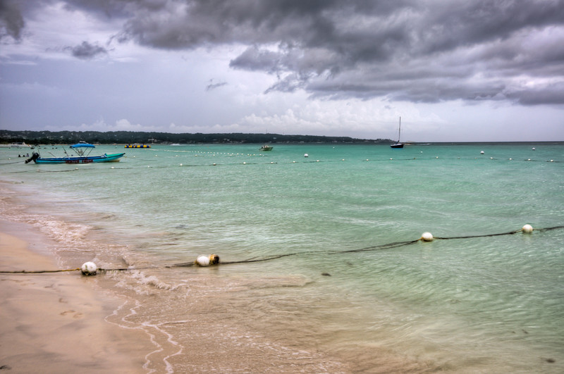 The rain clouds starting rolling in as we were walking down the beach in Negril. Lucky for us, it didn't rain!