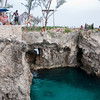 Our last stop on our day trip to Negril was a popular spot called Rick's Cafe where locals and tourists do cliff diving. This picture doesn't do justice to how high the cliff actually was.