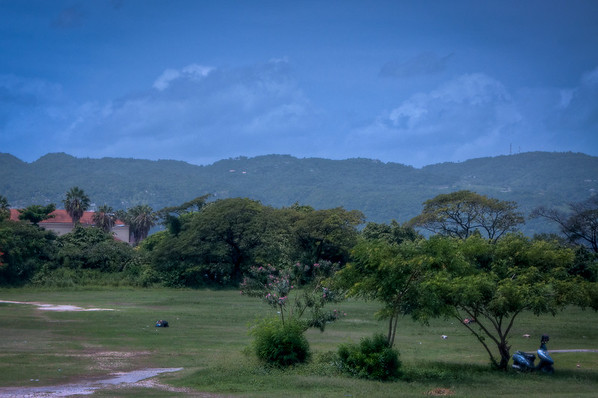 A quick shot outside the window of the bus on our way to Negril.