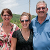 Mom, Em, and Dad on our way to Negril.