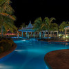 The pool at our hotel was lit up really nicely at night and made for some great photos. I liked this panoramic shot of the pool. You can even see the stars peeking out in the sky in this shot.
