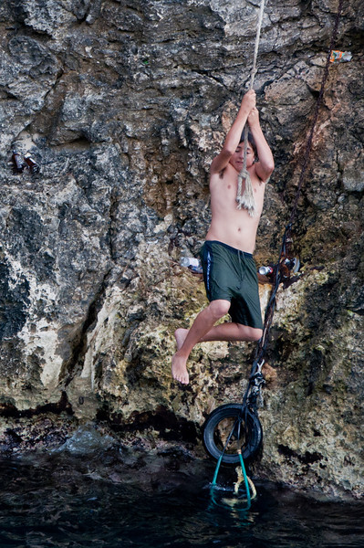 There was also a tarzan swing, where those daring souls who jumped off the cliff could swing off it.