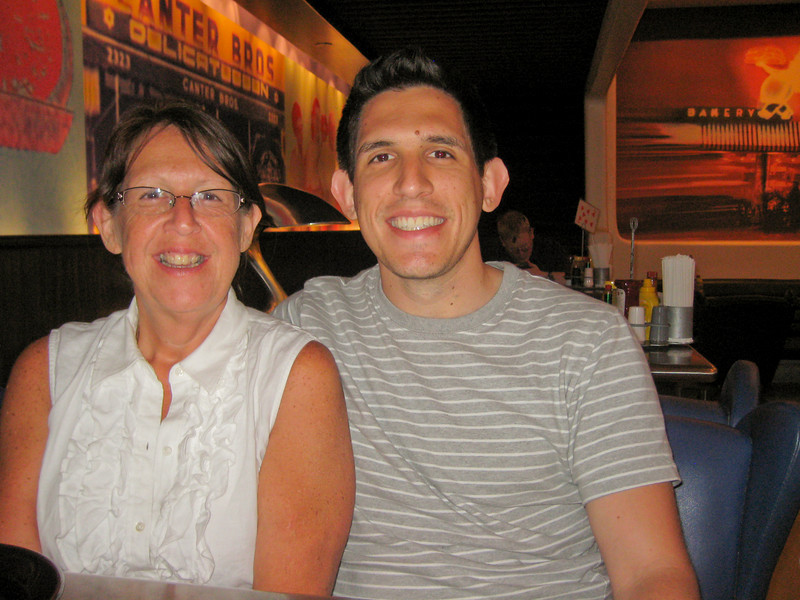 Me and Mom enjoying some good food at Canter's.