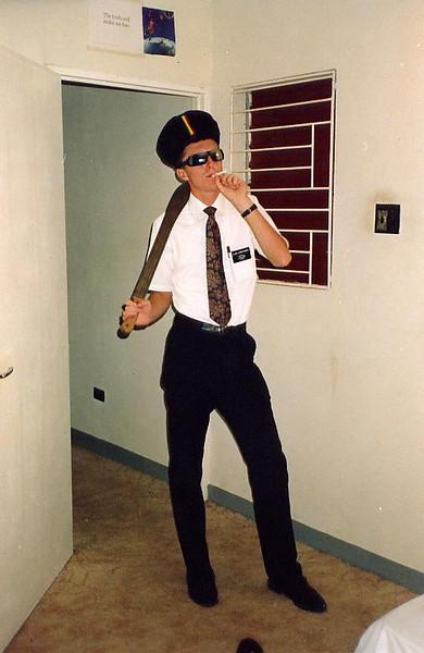 Elder Christensen in May Pen being Rastafarian.  Christensen was always pretty funny.