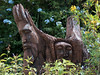 these guys were parked in the garden next to the driveway.  Probably carved by local artists over at Fisherman's Beach