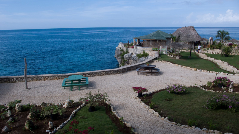 The view from our veranda at Catcha Falling Star in Negril, Jamaica.