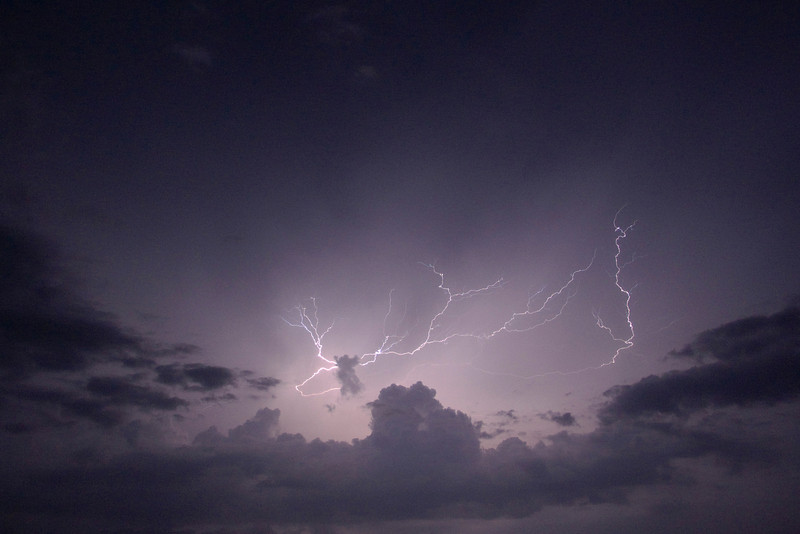 Amazing show of lightening viewed from our balcony.
