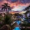 Sunset Overlooking Sensatori Resort in Jamaica