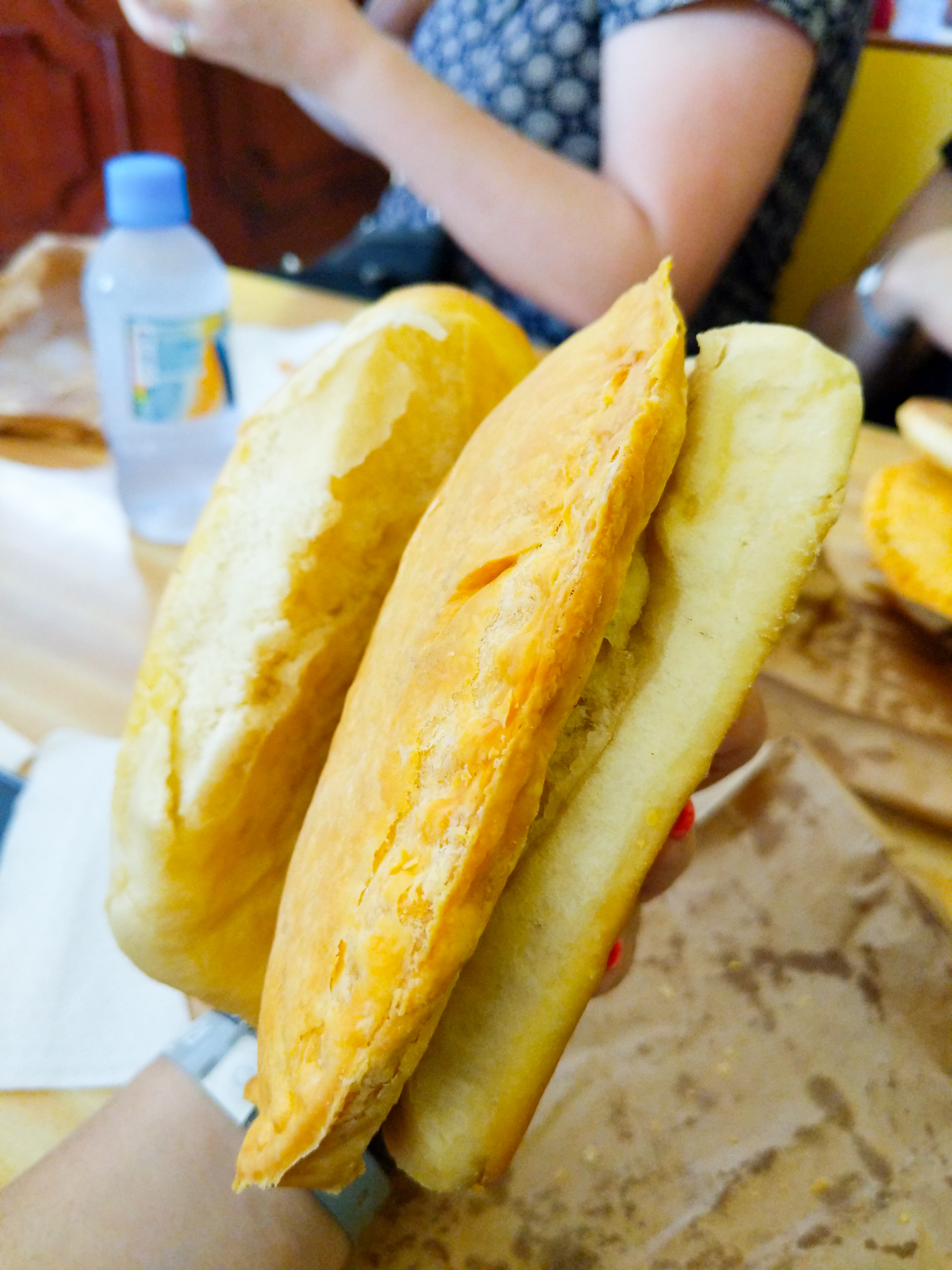 Beef patty in coco bread is just one traditional Jamaican food you need to try. The ultimate guide for what to eat in Jamaica, our best picks for 27 dishes, 6 desserts and 12 drinks you won't want to leave the island without trying.