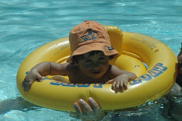 Buoyant baby boy