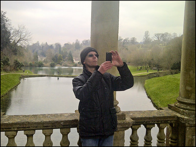 I think the camera was pointing away, otherwise Simon will have a lovely picture of himself with the duck pond behind.