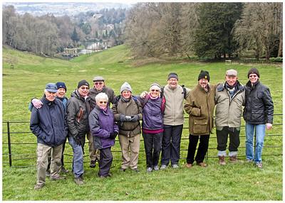 Happy Hikers at Prior Park, Bath.