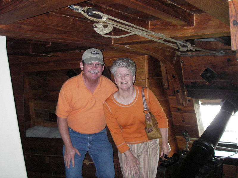 People back then had to be short, we had to duck everywhere we went below deck, very cramped quarters.
